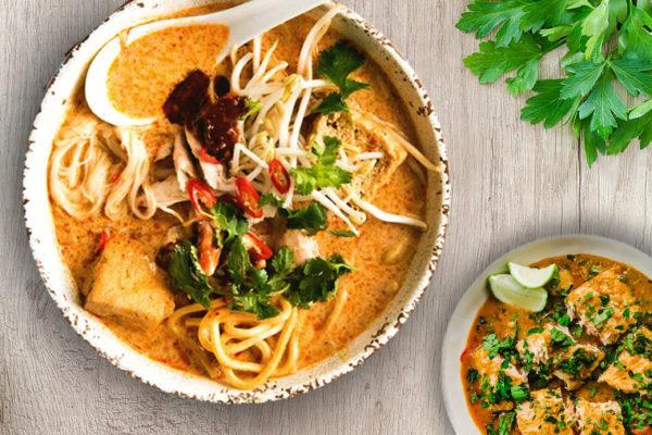 Housemade Laksa with Zero Calorie Konjac Noodles