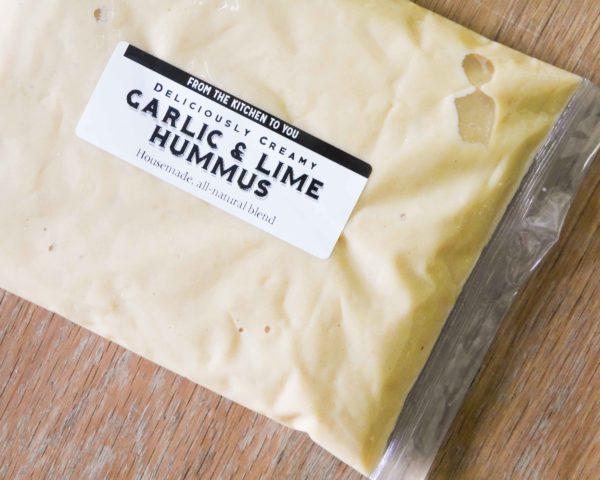 Creamy Homemade Garlic & Lime Hummus